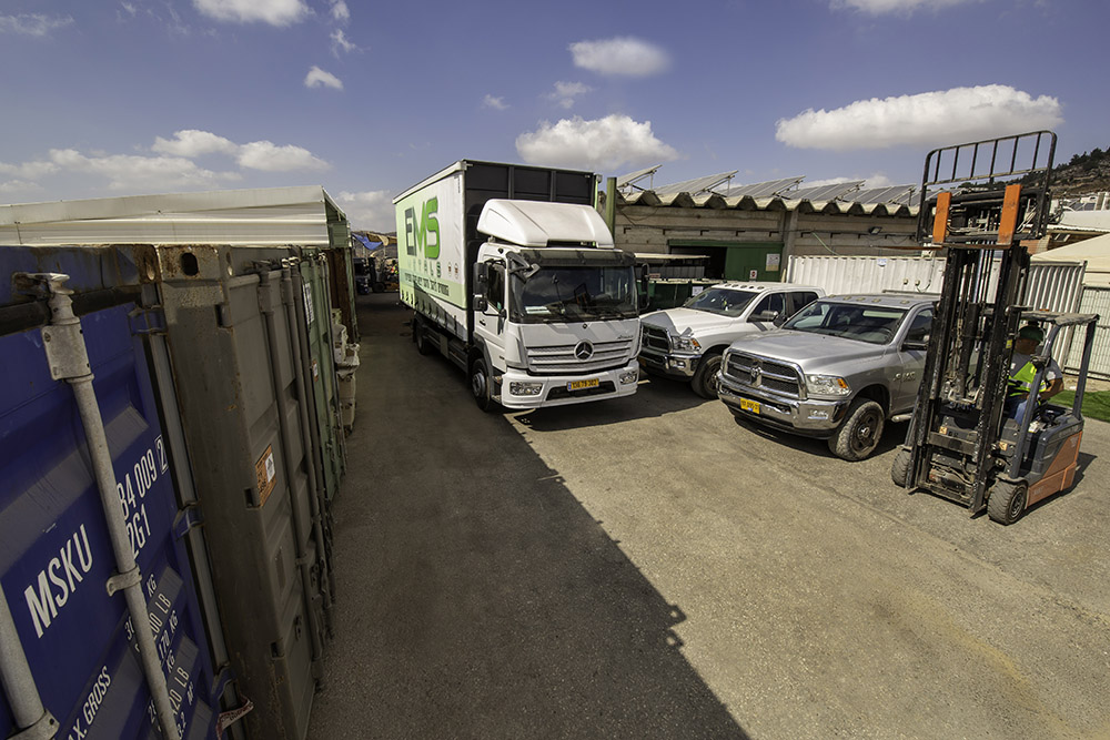 Truckes in the driveway